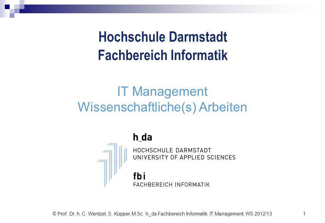 © Prof.Dr. h. C. Wentzel, S. Küpper, M.Sc.