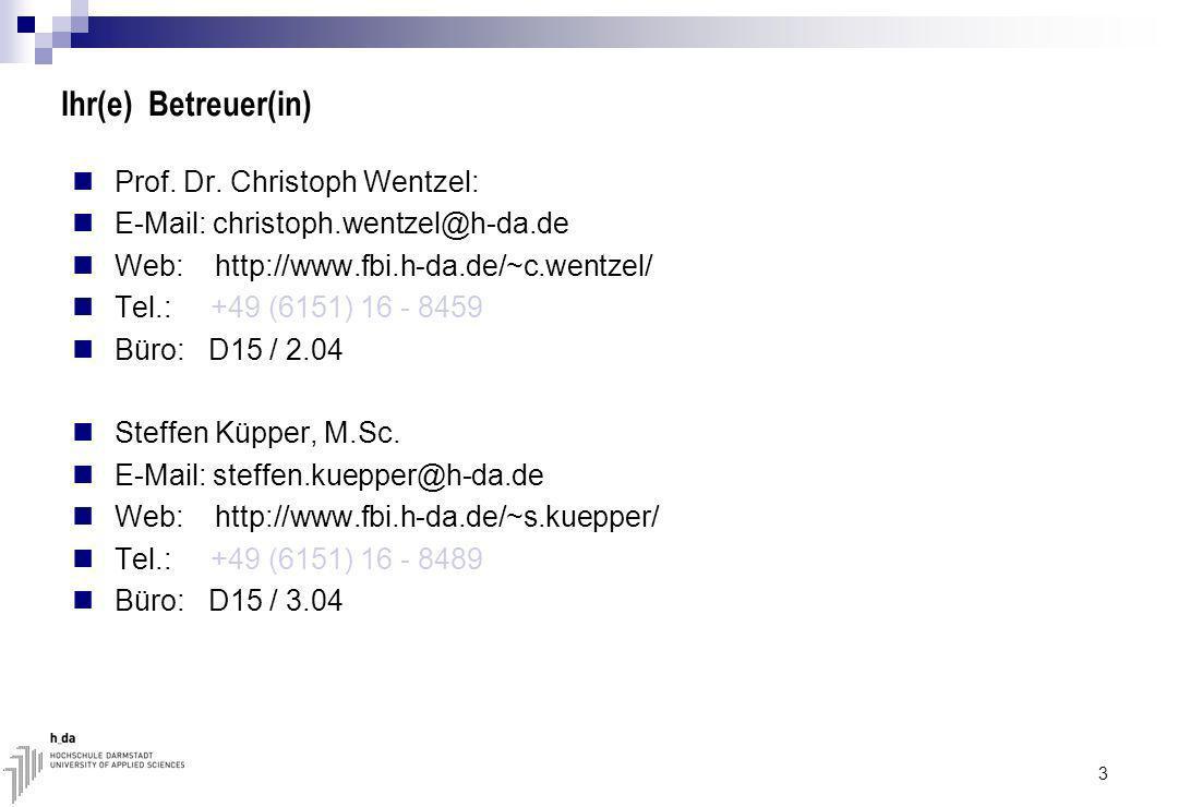 4 1. Wissenschaftliches Arbeiten Hochschule Darmstadt Fachbereich Informatik