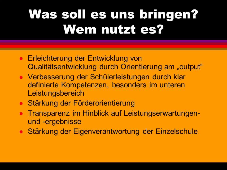 Was unterscheidet die Kerncurricula von den Bildungsstandards In Niedersachsen eher eine Mischung: Die Kerncuricula benennen in ihren Kompetenzbereich