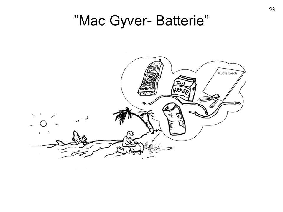 29 Mac Gyver- Batterie