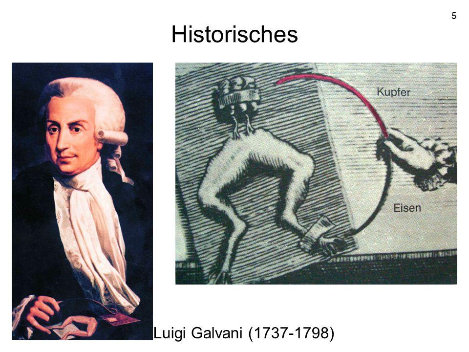 5 Historisches Luigi Galvani (1737-1798)