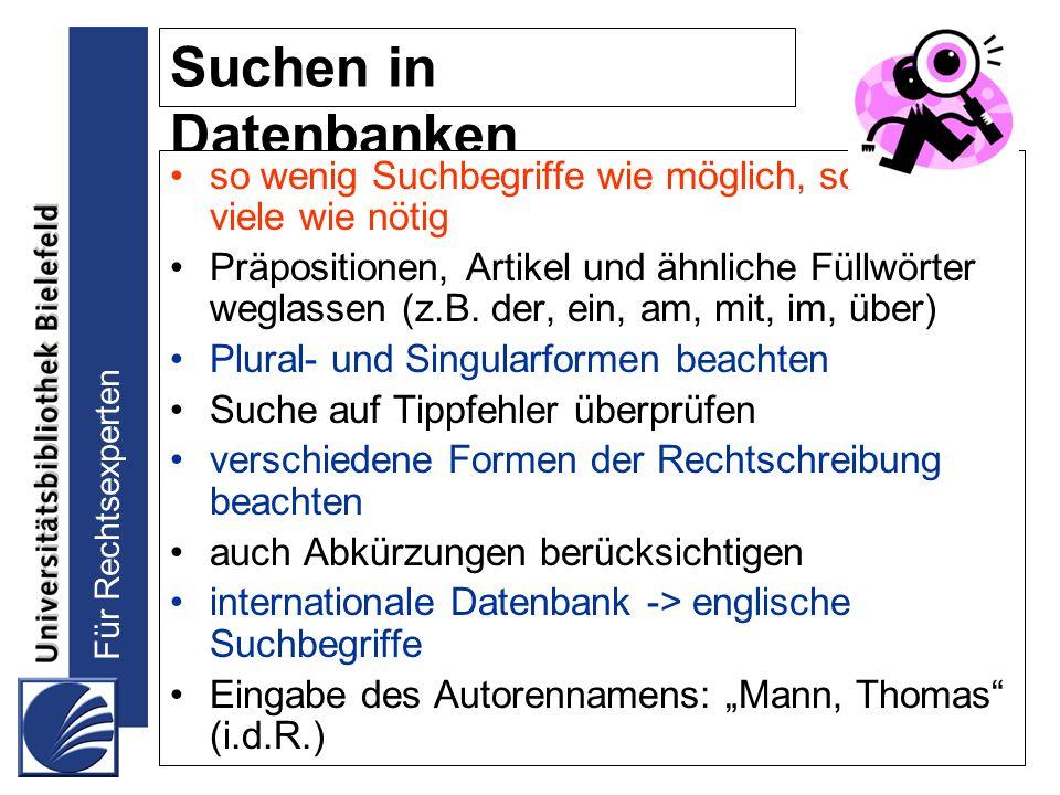 Für Rechtsexperten Vielen Dank für Ihre Aufmerksamkeit! Kontakt: ulrike.verch@uni-bielefeld.de