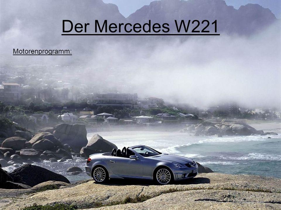 Der Mercedes W221 Motorenprogramm: