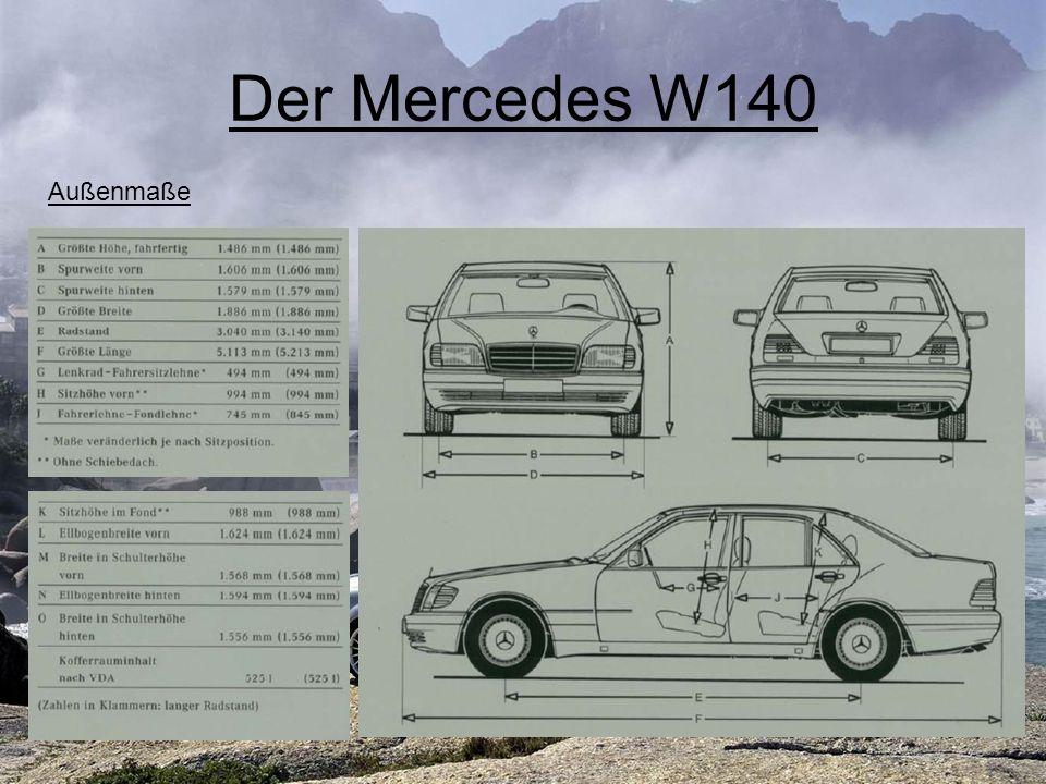 Der Mercedes W220 Überblick Produktionsbeginn 1998 Insgesamt über 500 Patenanmeldungen Einführung zahlreicher Sicherheitsfeatures (wie z.B.