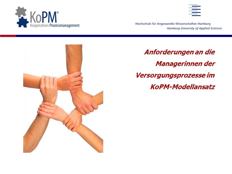 Anforderungen an die Managerinnen der Versorgungsprozesse im KoPM-Modellansatz