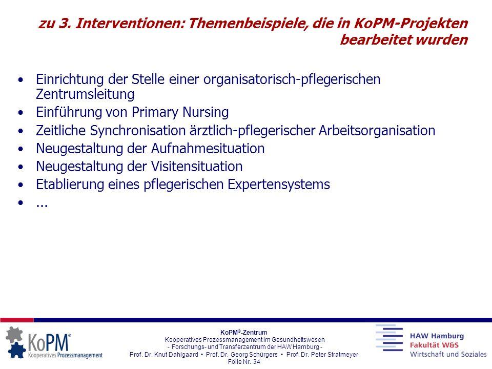 KoPM ® -Zentrum Kooperatives Prozessmanagement im Gesundheitswesen - Forschungs- und Transferzentrum der HAW Hamburg - Prof. Dr. Knut Dahlgaard Prof.