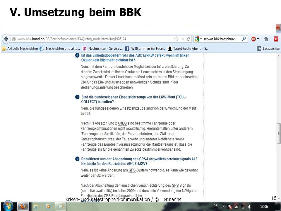 V. Umsetzung beim BBK Krisen- und Katastrophenkommunikation / © Hermanns 15