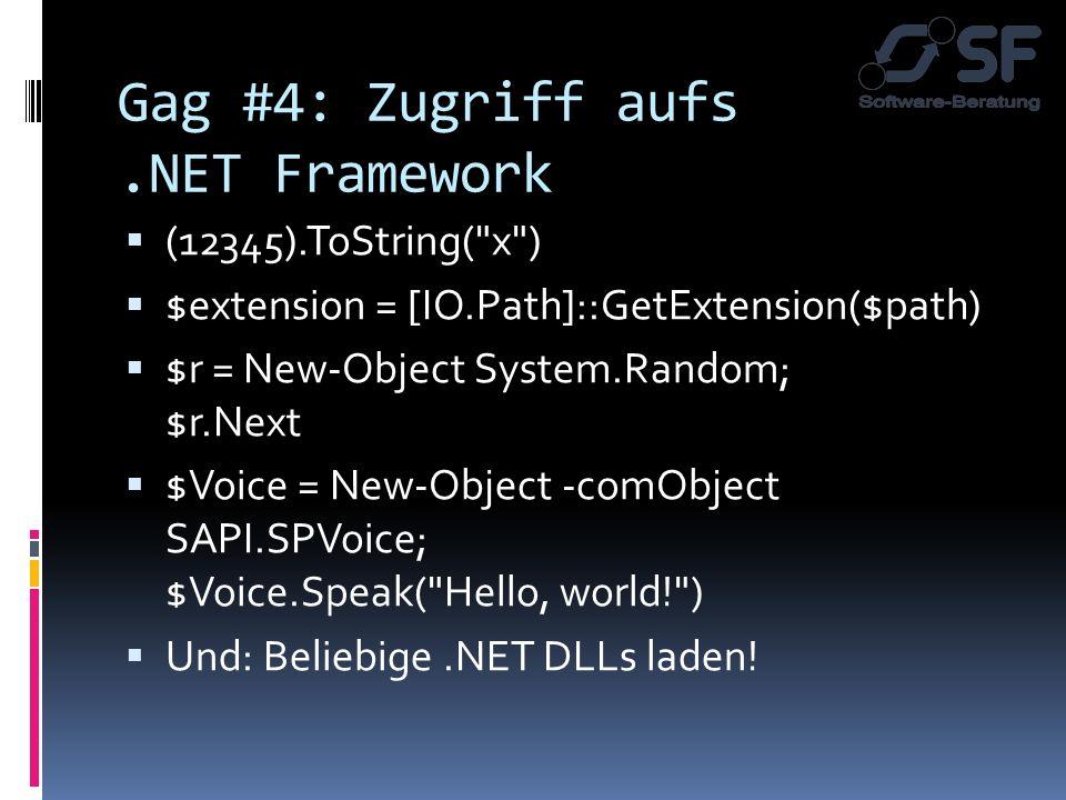 Gag #4: Zugriff aufs.NET Framework (12345).ToString(