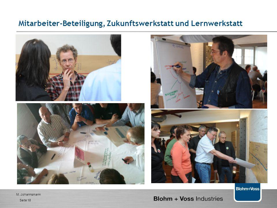 M. Johannsmann Seite 17 Wertschöpfungs-orientierte Organisation 1. BVI- das Unternehmen 2. Management - Selbstverständnis und Ziele 3. Handlungsfelder