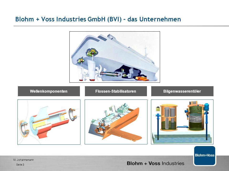 M. Johannsmann Seite 2 Blohm + Voss Industries GmbH (BVI) – das Unternehmen Gründung: Wurzeln als Maschinenbau-Abteilung der der deutschen Werft HH un