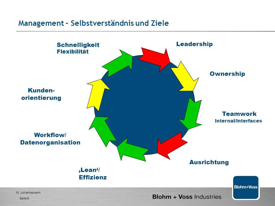 M. Johannsmann Seite 4 Wertschöpfungs-orientierte Organisation 1. BVI- das Unternehmen 2. Management - Selbstverständnis und Ziele 3. Handlungsfelder-
