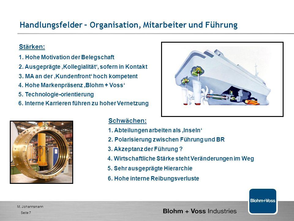 M.Johannsmann Seite 7 Stärken: 1. Hohe Motivation der Belegschaft 2.