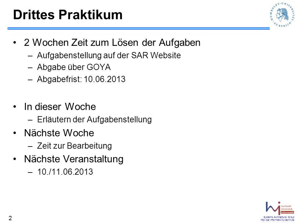 Systems Architecture Group http://sar.informatik.hu-berlin.de 33 Non-Blocking write