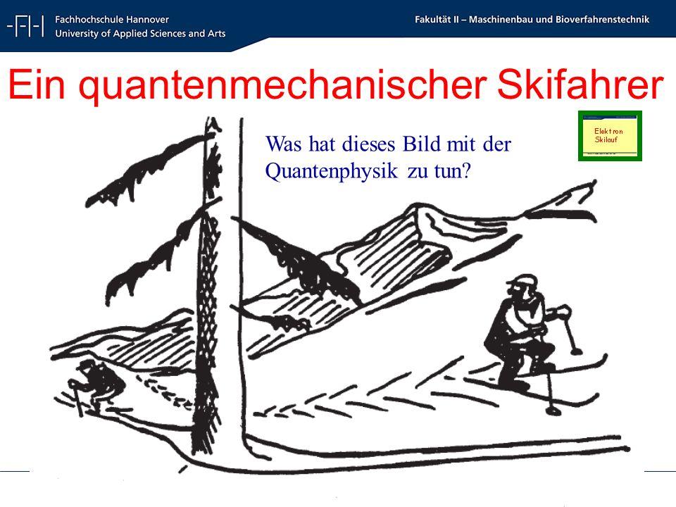 Radioökologie und Strahlenschutz - Radioecology and Radiation Protection - Schrewe 49 Ein quantenmechanischer Skifahrer Was hat dieses Bild mit der Quantenphysik zu tun