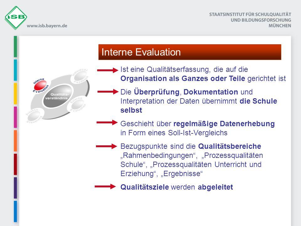 Ist eine Qualitätserfassung, die auf die Organisation als Ganzes oder Teile gerichtet ist Die Überprüfung, Dokumentation und Interpretation der Daten
