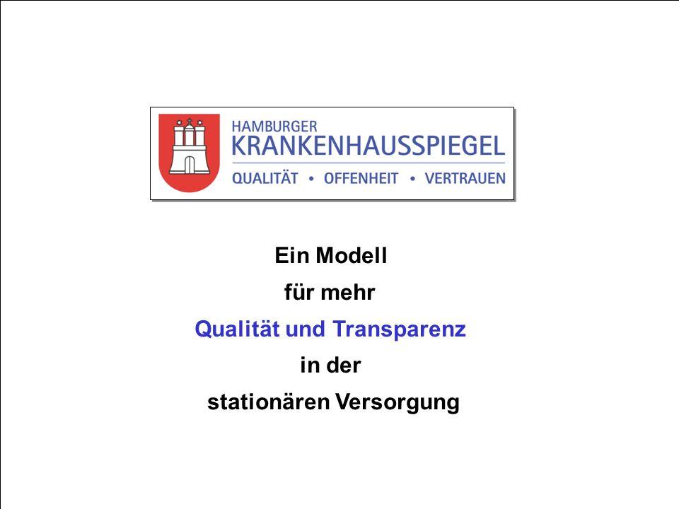 24.01.2011 www.hamburger-krankenhausspiegel.de Ein Modell für mehr Qualität und Transparenz in der stationären Versorgung