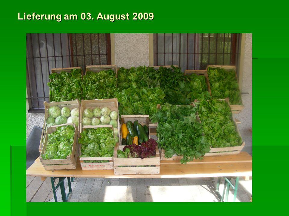Lieferung am 03. August 2009