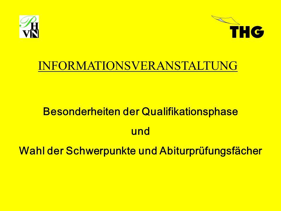 Besonderheiten der Qualifikationsphase und Wahl der Schwerpunkte und Abiturprüfungsfächer INFORMATIONSVERANSTALTUNG