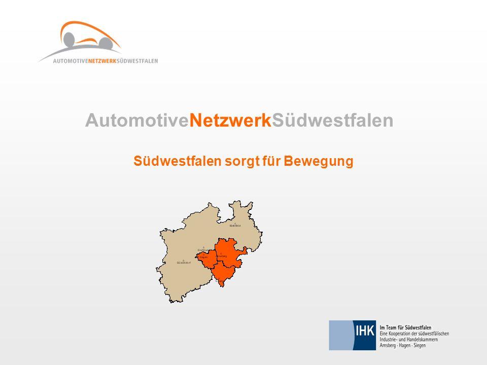 AutomotiveNetzwerkSüdwestfalen Südwestfalen sorgt für Bewegung