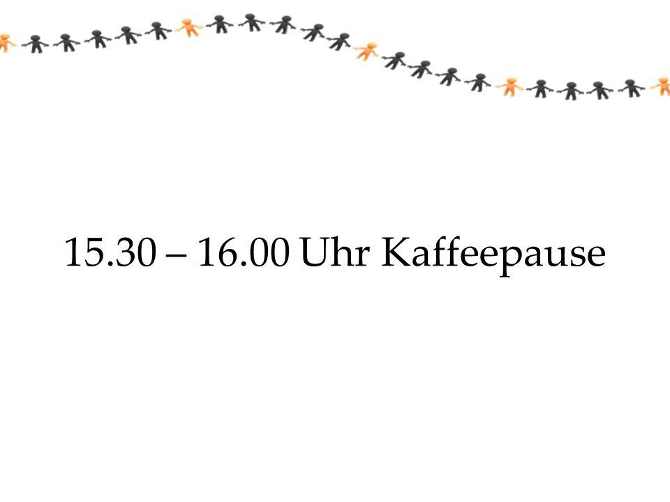 15.30 – 16.00 Uhr Kaffeepause