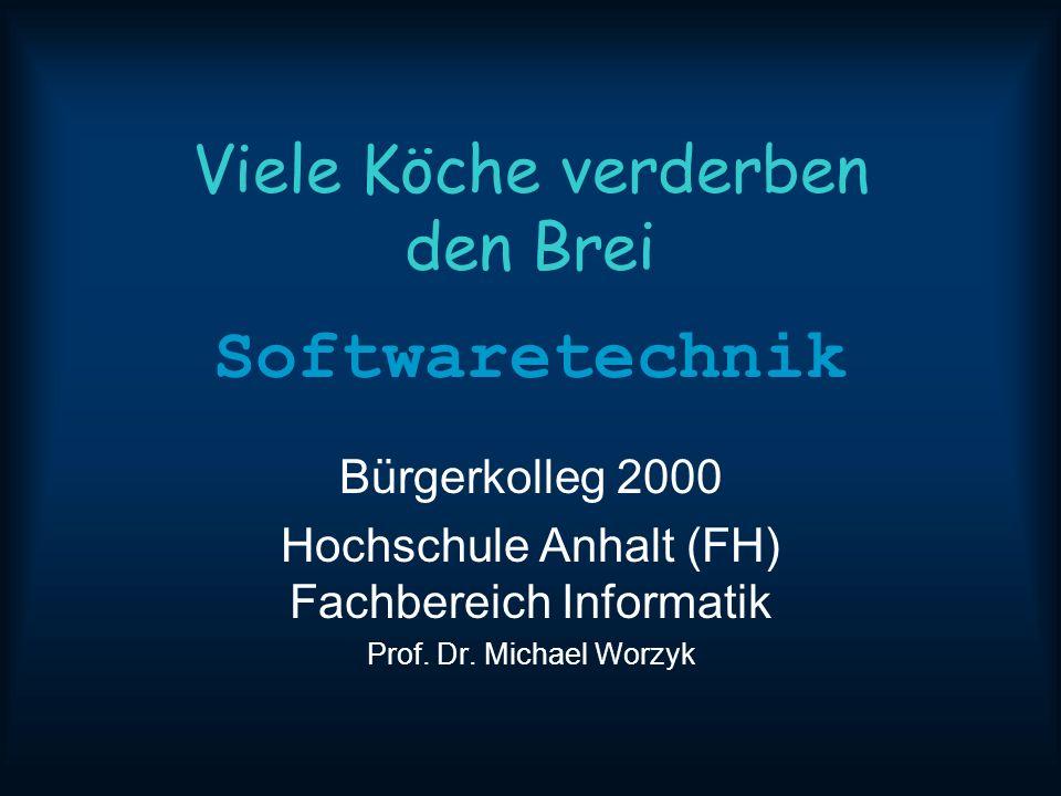 11/13/2013 10:54 AMSoftwaretechnik11 Teamgröße Softwareentwicklung geschieht in Teams Teamgröße 3 bis 50 Personen Projektgröße 36 bis 1500 Personenmonate