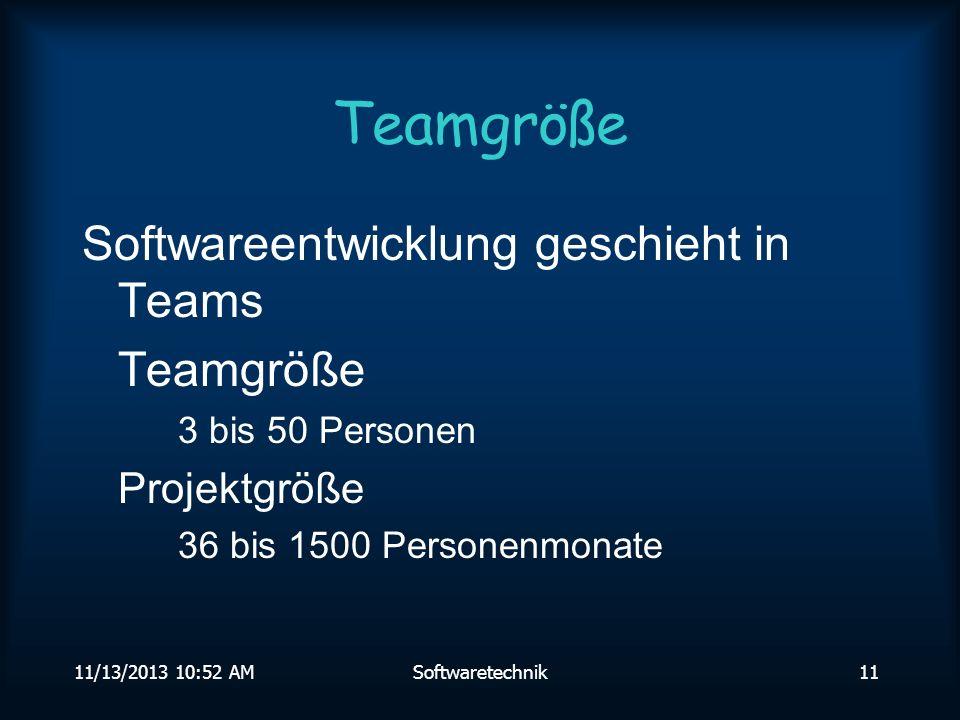 11/13/2013 10:54 AMSoftwaretechnik10 Entwicklungsdauer Quellen:TRWDoDGEI,entnommenausScharf88,S.62