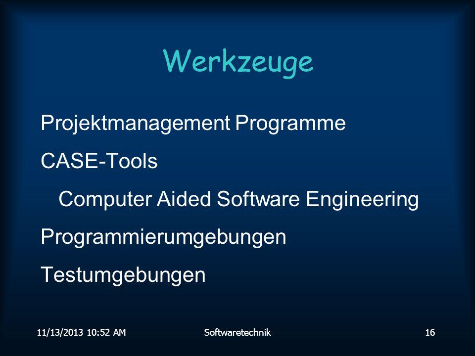 11/13/2013 10:54 AMSoftwaretechnik15 zielorientiert QualitätQuantität ProjektdauerKosten + ++ + -- --