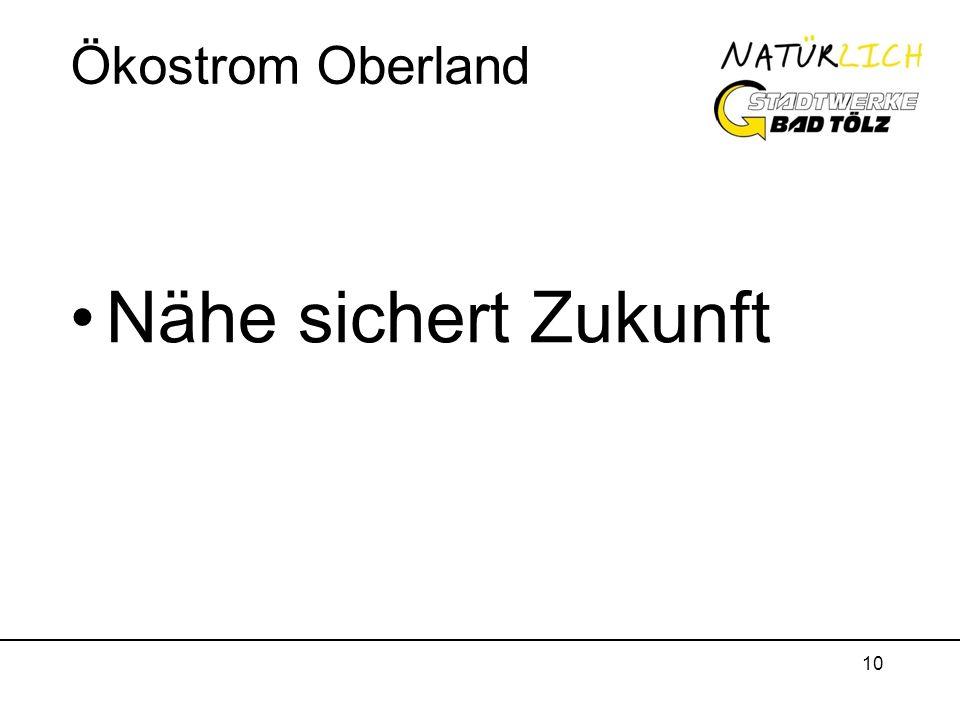 10 Ökostrom Oberland Nähe sichert Zukunft