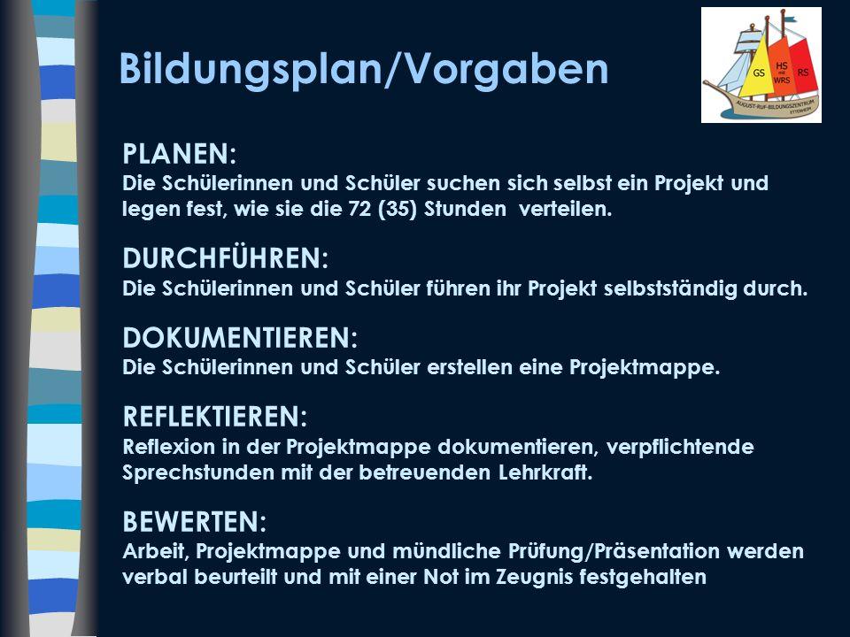 Grundsätze am August-Ruf-Bildungszentrum Für alle Schülerinnen und Schüler der Klassenstufe acht.