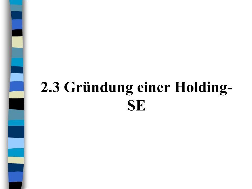 b)Neugründung A und B lösen sich auf und übertragen ihr gesamtes Vermögen auf eine neugegründete Gesellschaft C C wird in Form einer SE gegründet C +