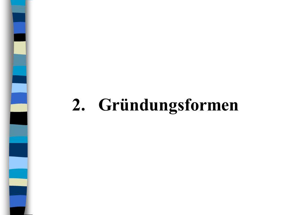 2.Gründungsformen