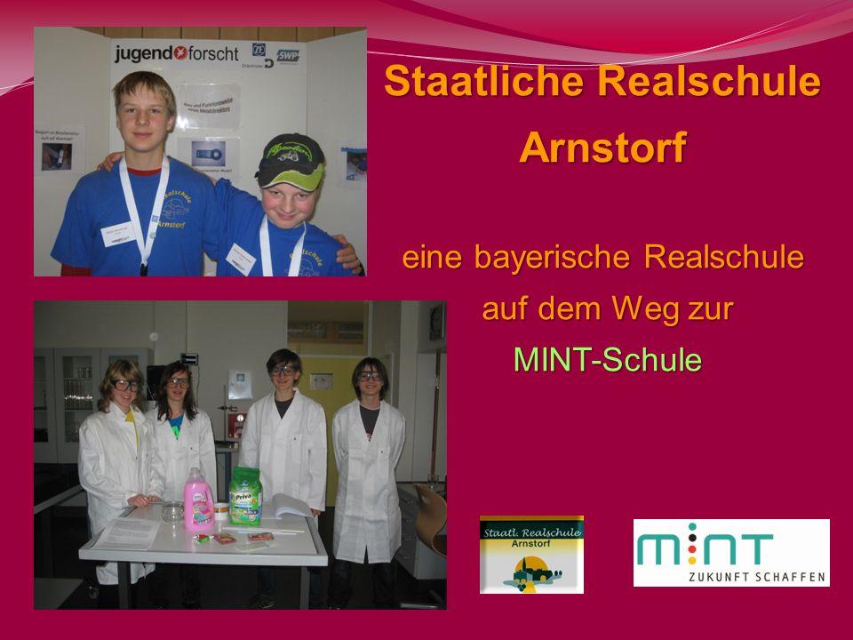 Staatliche Realschule Arnstorf eine bayerische Realschule auf dem Weg zur auf dem Weg zur MINT-Schule MINT-Schule