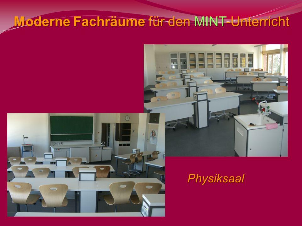 Moderne Fachräume für den MINT-Unterricht Physiksaal