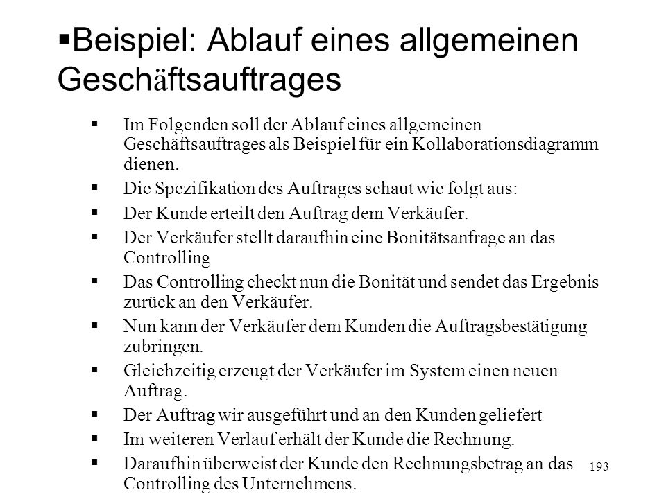 Beispiel Aus: Kahlbrandt, Software Engineering 194