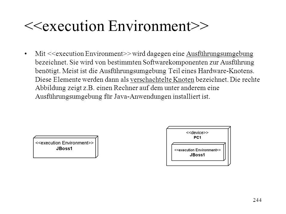 > Mit > wird dagegen eine Ausführungsumgebung bezeichnet. Sie wird von bestimmten Softwarekomponenten zur Ausführung benötigt. Meist ist die Ausführun