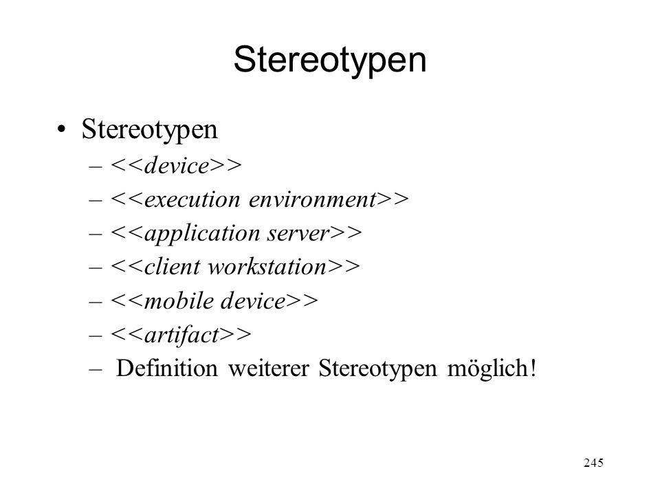 Stereotypen StereotypenStereotypen – > – Definition weiterer Stereotypen möglich! 245