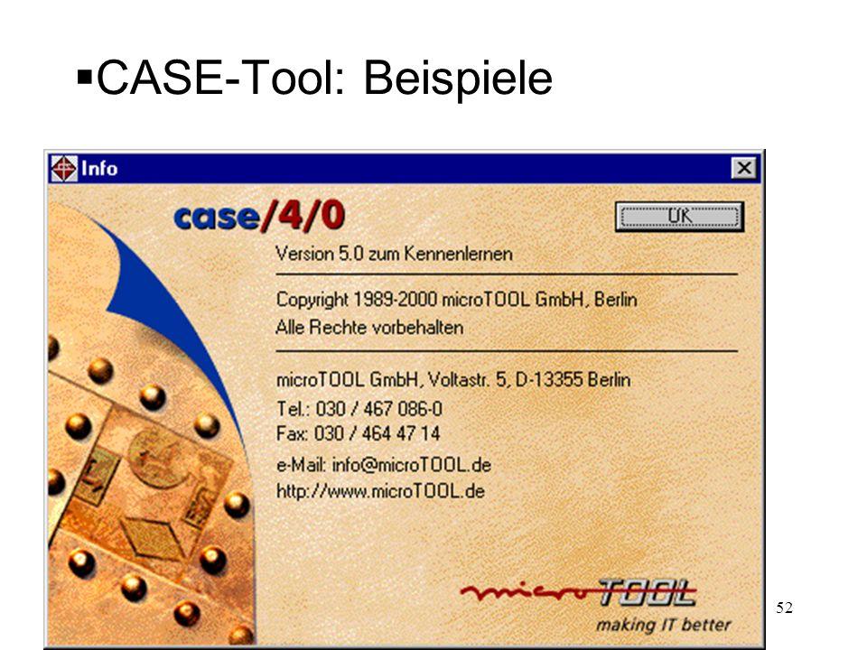 CASE-Tool: Beispiele 52