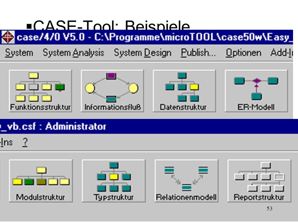 CASE-Tool: Beispiele 53