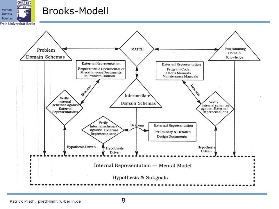 Patrick Plieth, plieth@inf.fu-berlin.de 8 Brooks-Modell