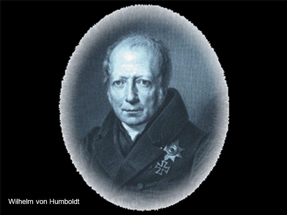 Wintersemester 2009/10 Schulentwicklung im 20. Jahrhundert Wilhelm von Humboldt