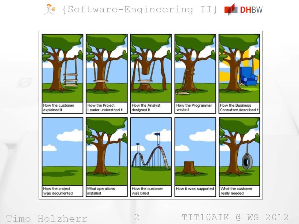 3 TIT10AIK @ WS 2012 Einführung »Objektorientierung »Aspektorientierung »Vorgehensmodelle »UML »Analyse- & Entwurfsmuster »Objektorientiertes Testen »Versionsverwaltung »Refactoring »Labor (Praktischer Teil)