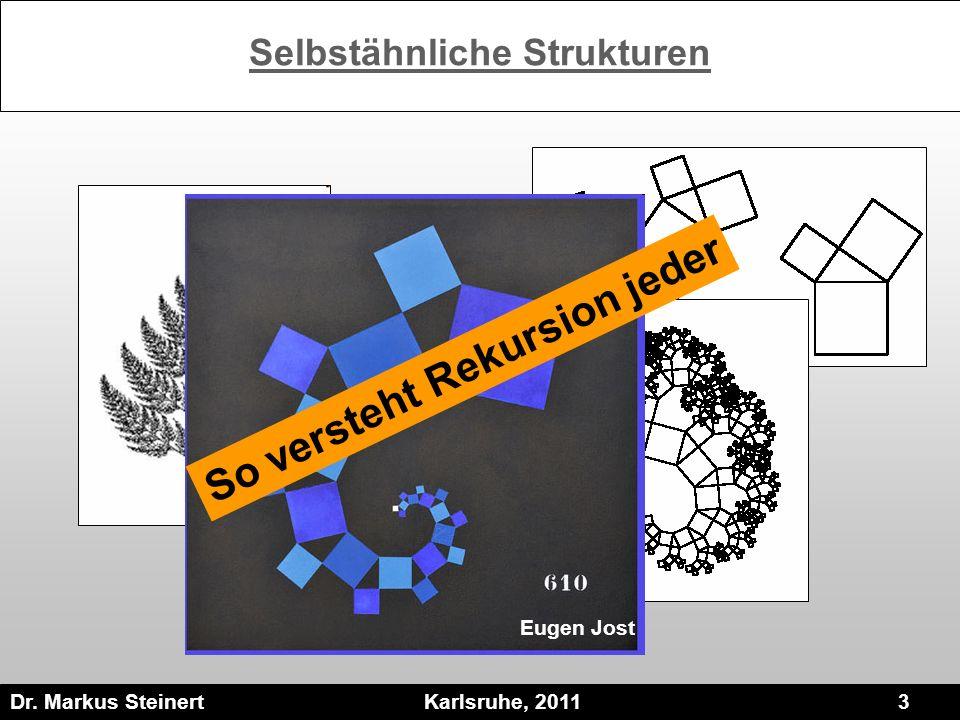Dr. Markus Steinert Karlsruhe, 2011 3 Selbstähnliche Strukturen Eugen Jost So versteht Rekursion jeder