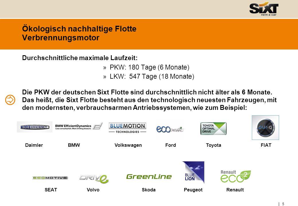 6 Ökologisch nachhaltige Flotte Verbrennungsmotor – BMW Efficient Dynamics BMW Efficient Dynamics ist ein Maßnahmenbündel zur Reduzierung des Energieverbrauchs der Fahrzeuge.
