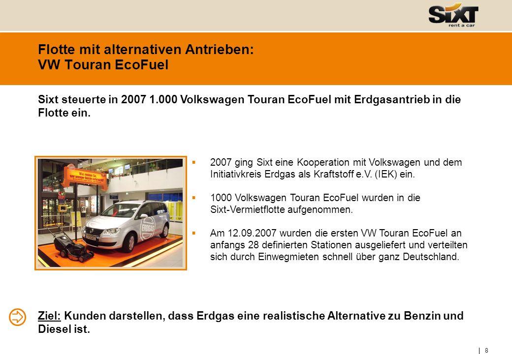 9 Flotte mit alternativen Antrieben: BMW ActiveHybrid 7, X6 und Mercedes S400 HYBRID Ab 2010 hat Sixt die effizienten Fahrzeuge BMW ActiveHybrid 7, X6 und Mercedes S400 HYBRID in der Flotte Seit 2010 können Kunden die Hybridfahrzeuge von BMW und Mercedes mieten.