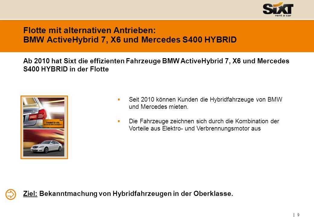 10 Flotte mit alternativen Antrieben: BMW Mini E Sixt als Partner des MINI-E Projekts.