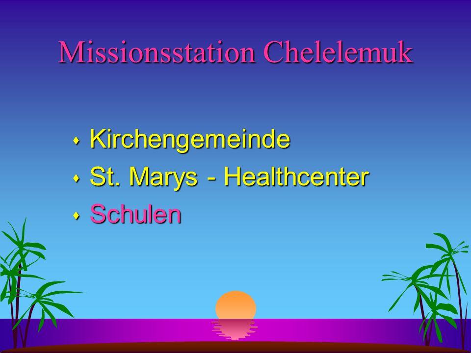 Missionsstation Chelelemuk s Kirchengemeinde s St. Marys - Healthcenter s Schulen