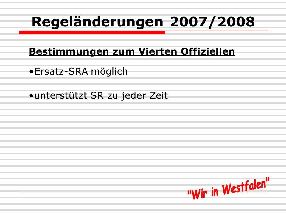 Regeländerungen 2007/2008 Regel 4 – Ausrüstung der Spieler Unterleibchen müssen Farbe der Jerseys oder der Hemden haben