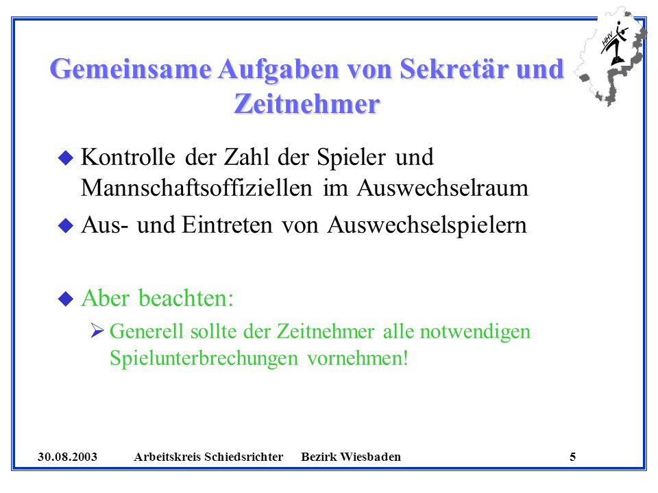 30.08.2003 Arbeitskreis SchiedsrichterBezirk Wiesbaden 6 Was bedeutet Teilnahmeberechtigung.