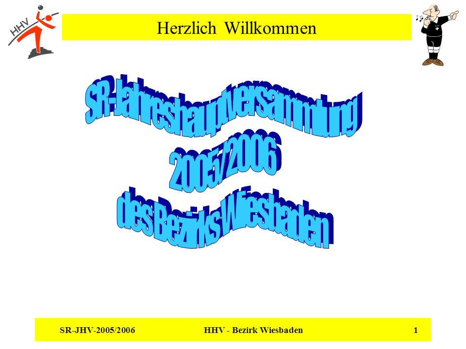 SR-JHV-2005/2006 HHV - Bezirk Wiesbaden 1 Herzlich Willkommen