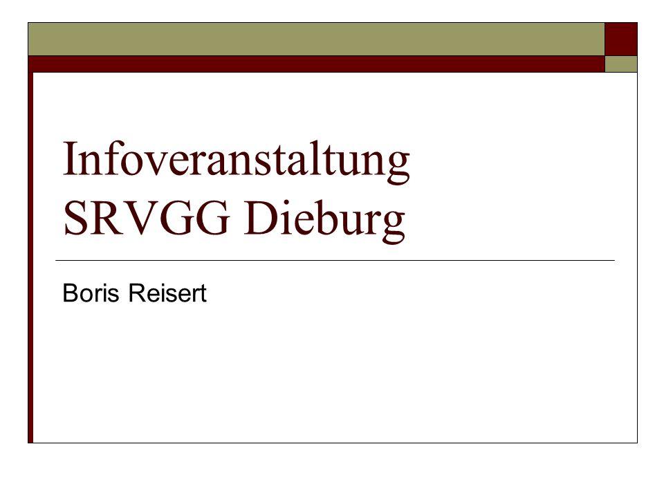 Infoveranstaltung SRVGG Dieburg Boris Reisert